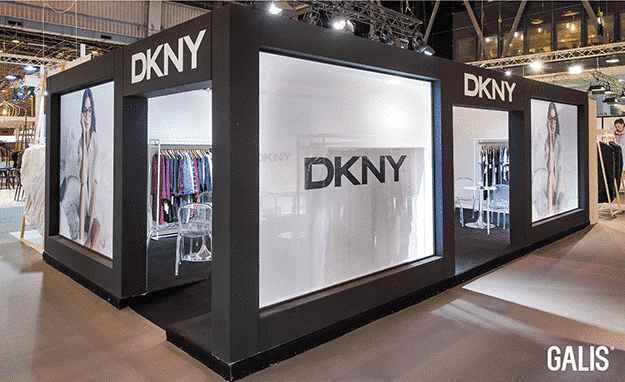 Conception du stand DKNY